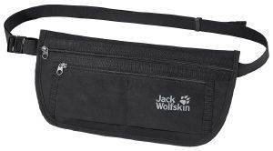 ΤΣΑΝΤΑΚΙ JACK WOLFSKIN DOCUMENT BELT DE LUXE BAG ΜΑΥΡΟ