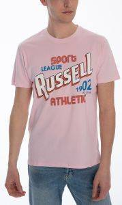 ΜΠΛΟΥΖΑ RUSSELL ATHLETIC SPORT LEAGUE S/S CREWNECK TEE ΡΟΖ