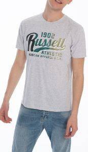 ΜΠΛΟΥΖΑ RUSSELL ATHLETIC GRADIENT S/S CREWNECK TEE ΓΚΡΙ ΑΝΟΙΚΤΟ