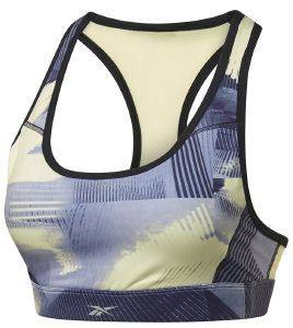 ΜΠΟΥΣΤΑΚΙ REEBOK SPORT RUNNING ESSENTIALS MEDIUM-IMPACT GRAPHIC BRA ΜΩΒ