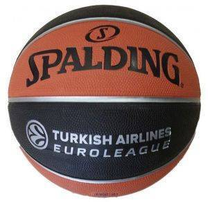 ΜΠΑΛΑ SPALDING EUROLEAGUE OFFICIAL REPLICA RUBBER ΠΟΡΤΟΚΑΛΙ/ΜΑΥΡΗ (7)