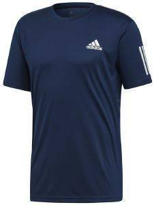ΜΠΛΟΥΖΑ ADIDAS PERFORMANCE 3-STRIPES CLUB TEE ΜΠΛΕ ΣΚΟΥΡΟ (XL)