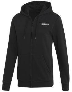 ΖΑΚΕΤΑ ADIDAS PERFORMANCE ESSENTIALS LINEAR FZ FLEECE ΜΑΥΡΗ