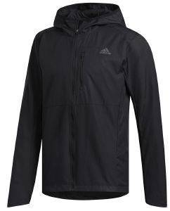 JACKET ADIDAS PERFORMANCE OWN THE RUN HOODED WIND ΜΑΥΡΟ