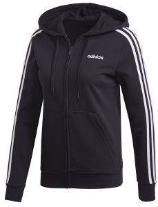 ΖΑΚΕΤΑ ADIDAS PERFORMANCE ESSENTIALS 3-STRIPES HOODIE ΜΑΥΡΗ