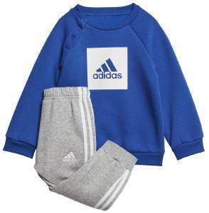 ΦΟΡΜΑ ADIDAS PERFORMANCE 3-STRIPES FLEECE JOGGER SET ΜΠΛΕ/ΓΚΡΙ