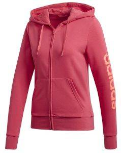 ΖΑΚΕΤΑ ADIDAS PERFORMANCE ESSENTIALS LINEAR HOODIE ΡΟΖ
