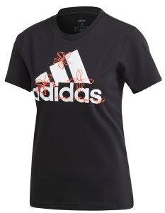 ΜΠΛΟΥΖΑ ADIDAS PERFORMANCE FLORAL GRAPHIC TEE ΜΑΥΡΗ