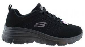 ΠΑΠΟΥΤΣΙ SKECHERS FASHION FIT TRUE FEELS ΜΑΥΡΟ
