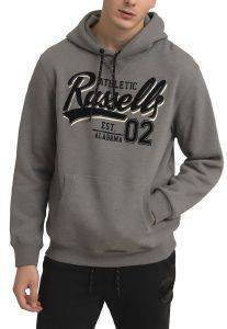 ΦΟΥΤΕΡ RUSSELL ATHLETIC EST ALABAMA PULLOVER HOODY ΓΚΡΙ