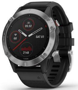 ΡΟΛΟΪ GARMIN FENIX 6 SILVER WITH BLACK BAND