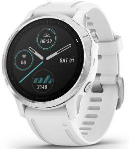 ΡΟΛΟΪ GARMIN FENIX 6S SILVER WITH WHITE BAND