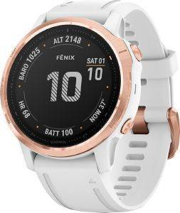 ΡΟΛΟΪ GARMIN FENIX 6S PRO ROSE GOLD WITH WHITE BAND
