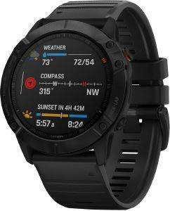 ΡΟΛΟΪ GARMIN FENIX 6X PRO BLACK WITH BLACK BAND
