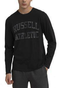 ΜΠΛΟΥΖΑ RUSSELL ATHLETIC L/S CREWNECK TEE ΜΑΥΡΗ (M)