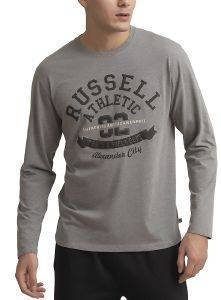 ΜΠΛΟΥΖΑ RUSSELL ATHLETIC TRACK & FIELD L/S TEE ΓΚΡΙ