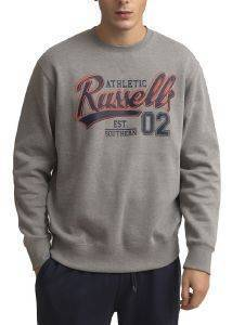 ΜΠΛΟΥΖΑ RUSSELL ATHLETIC EST SOUTHERN CREWNECK SWEATSHIRT ΓΚΡΙ