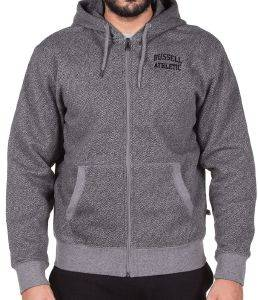ΖΑΚΕΤΑ RUSSELL ATHLETIC 02 ZIP THROUGH HOODY ΓΚΡΙ