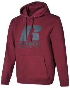 ΦΟΥΤΕΡ RUSSELL ATHLETIC PULLOVER HOODY ΜΠΟΡΝΤΟ