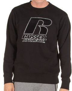 ΜΠΛΟΥΖΑ RUSSELL ATHLETIC OUTLIBE CREWNECK SWEATSHIRT ΜΑΥΡΗ