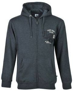ΖΑΚΕΤΑ RUSSELL ATHLETIC TRADEMARK USA ZIP-THROUGH HOODY ΑΝΘΡΑΚΙ