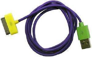 USB DATA CABLE APPLE IPHONE 4/4S PURPLE (BULK)