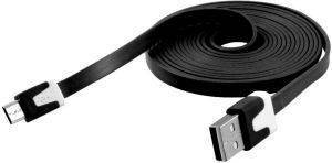 USB FLAT DATA CABLE MICRO USB BLACK BULK