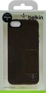 BELKIN F8W093VFC00 GRIP SHEER CASE FOR IPHONE 5 BLACK