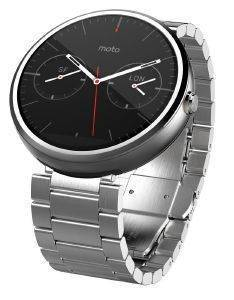 MOTOROLA MOTO 360 SMART WATCH FOR ANDROID DEVICES NATURAL SILVER