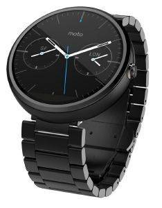 MOTOROLA MOTO 360 SMART WATCH FOR ANDROID DEVICES DARK METAL