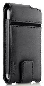 BELKIN F8Z853CWC00 FLIP LEATHER CASE FOLIO FOR IPHONE 4 BLACK