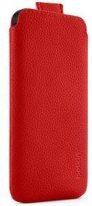 BELKIN F8W123VFC01 POCKET LEATHER CASE FOR IPHONE 5 -RED