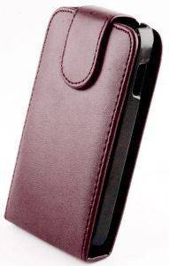 LEATHER CASE FOR IPHONE 5/5S PURPLE