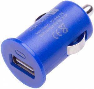 CONNECT IT CI-589 USB CAR CHARGER 2.1A COLOUR LINE BLUE τηλεπικοινωνίες για το αυτοκινητο φορτιστεσ