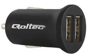 QOLTEC 50049.12W CAR ADAPTER CHARGER 12W/5V/2.4A/2X USB