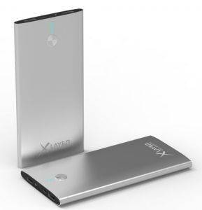 XLAYER POWERBANK STREAMLINE POLYMER SILVER 8000MAH FOR SMARTPHONES/TABLETS