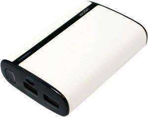 LOGILINK PA0127W MOBILE POWER BANK IN LEATHER OPTIC 7800MAH WHITE