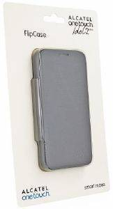 ALCATEL LEATHER FLIPCOVER FC6016 FOR ONE TOUCH IDOL 2 MINI SLATE GREY