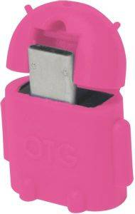 LOGILINK AA0065 MINI MICRO USB B/M TO USB A/F OTG ADAPTER PINK
