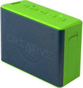 CREATIVE MUVO 2C PALM-SIZED WATER-RESISTANT BLUETOOTH SPEAKER WITH BUILT-IN MP3 PLAYER GREEN