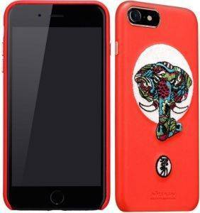NILLKIN TPU BROCADE BACK COVER CASE FOR APPLE IPHONE 7/IPHONE 8 RED