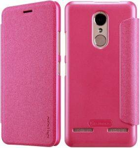NILLKIN SPARKLE LEATHER FLIP CASE FOR LENOVO K6 POWER PINK