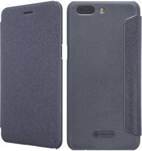 NILLKIN SPARKLE LEATHER FLIP CASE FOR ONE PLUS 5/A5000 BLACK
