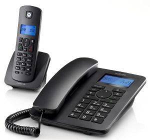 MOTOROLA C4201 COMBO ΕΝΣΥΡΜΑΤΟ/ DECT CORDLESS PHONE BLACK