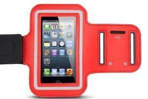 ESPERANZA EMA122R-L UNIVERSAL SPORT PLASTIC ARMBAND CASE FOR SMARTPHONES LARGE -RED