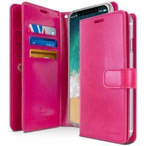 MERCURY GOOSPERY MANSOOR LEATHER DIARY FLIP CASE APPLE IPHONE 7 HOT PINK