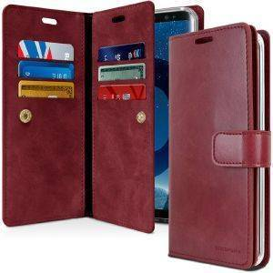 MERCURY GOOSPERY MANSOOR LEATHER DIARY FLIP CASE APPLE IPHONE 7 WINE -RED