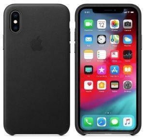 APPLE MRWM2ZM/A IPHONE XS LEATHER CASE BLACK