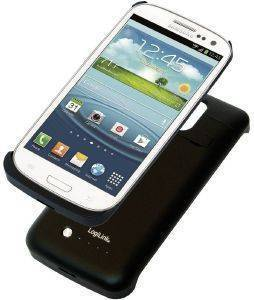 LOGILINK PA0077 TPU  COVER FOR SAMSUNG GALAXY S5 WITH INTEGRATED 3800MAH BATTERY CASE BLACK