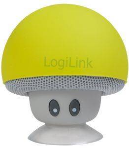 LOGILINK SP0054YW MOBILE BLUETOOTH SPEAKER MUSHROOM DESIGN YELLOW